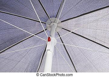 Grey sunblock umbrella