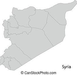 Grey Syria map
