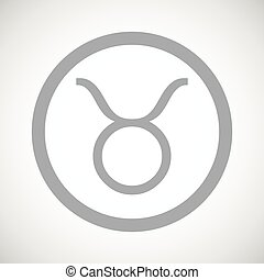 Grey taurus sign icon