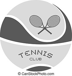 grey tennis club emblem design