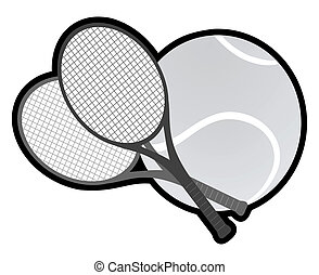 Grey tennis  - Creative design of grey tennis