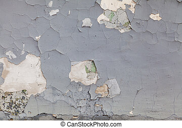 grey textured wall of old paint