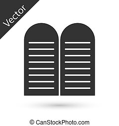 Grey The commandments icon isolated on white background. Gods law concept. Vector