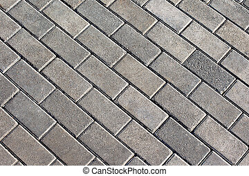 Grey tiles give a harmonic pattern at the ground