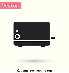 Grey Toaster icon isolated on white background. Vector Illustration