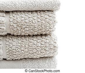 grey towels