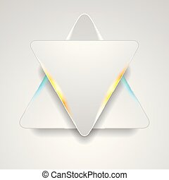 Grey triangles with blue orange light abstract background