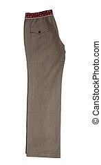 Grey trousers pants