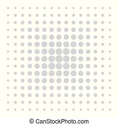 Grey vector dots on white background