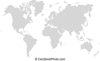 Vector dotted world map set the pixel maps of the earth grey vector dotted world map gumiabroncs Images