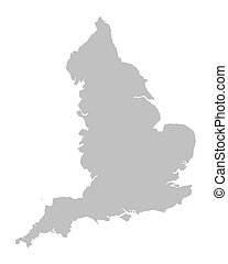 grey vector map of England