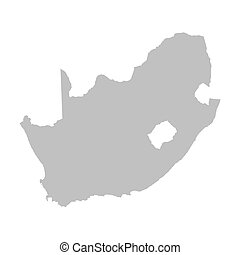 grey vector map of South Africa