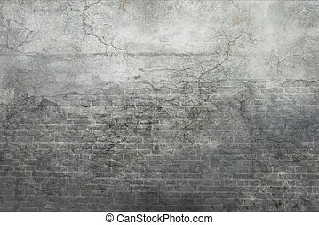 Grey Vintage Wall Background