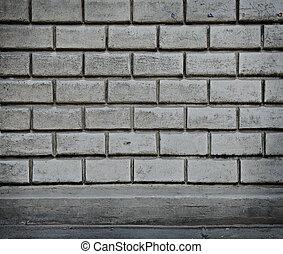 Grey wall from blocks