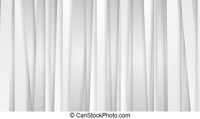 Grey white tech abstract vertical stripes video animation