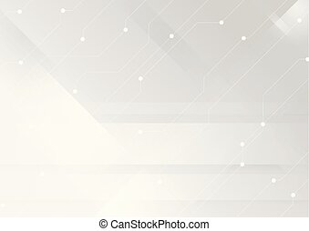 Grey white technology circuit board lines background