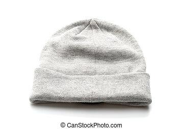 grey wool hat