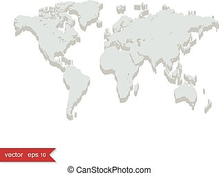 Grey vector world map gray world map with all country borders in grey world map gumiabroncs Images