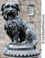 Greyfriars Bobby portrait - Bobby was a Skye Terrier that...