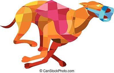 Greyhound Dog Racing Low Polygon - Low polygon style...