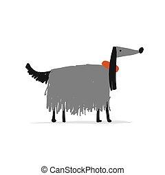 Greyhound dog, sketch for your design