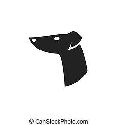 Greyhound head logo