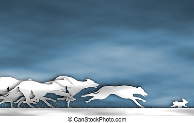 Greyhound race cutout - Illustration of cutout greyhound...