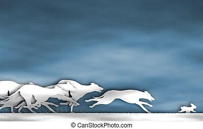 Greyhound race cutout - Illustration of cutout greyhound...