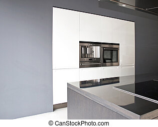 Greyscale kitchen horizontal