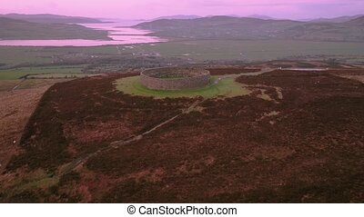 Grianan of Aileach ring fort, Donegal - Ireland.