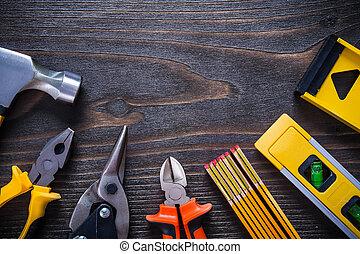 gribe, tanger, nippers, stål, skærer, hammer, prøv,...