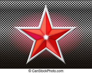 grid., 星, 赤い背景