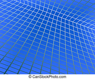 Abstract background of a blue grid