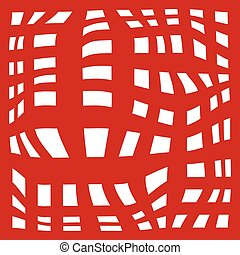 grid abstract background. red and white zebra print. Vector illustration. eps10