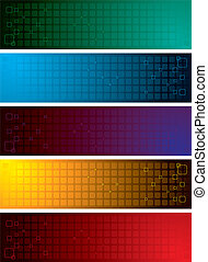 grid band - Illustrated collection of colourful bands ideal...