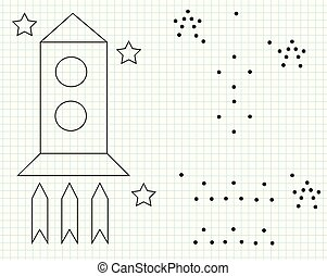 Grid copy worksheet. educational children game. Drawing activity for toddlers and kids.