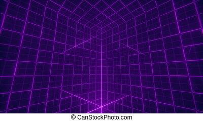 Grid Cube Background - Retro futuristic background design....