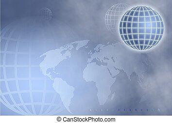 Grid Globe - background design