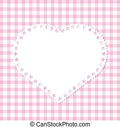 grid lace heart