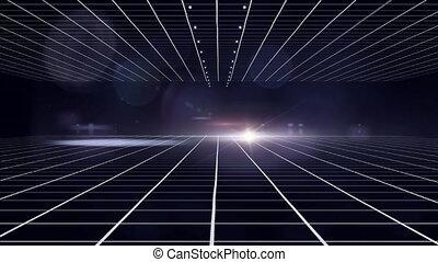 Grid on dark blue background