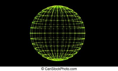Grid Pattern on Rotating Sphere