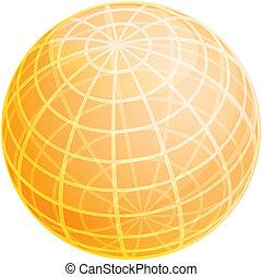 Grid sphere illustration