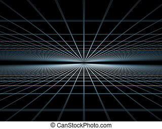 Elegant detailed grid lines rendered on plain background on the subject of science, technologies, geometry and mathematics
