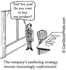 grida, marketing, finestra, direttore, fuori