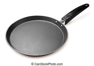 Griddle on white background
