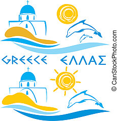 griechenland, -, ägäisches meer