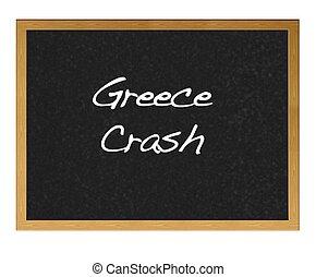 griechenland, crash.