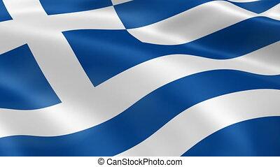griechenland markierungsfahne, wind