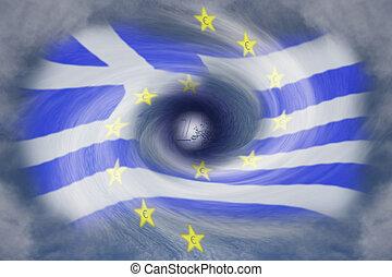 griechischer , schuld, krise