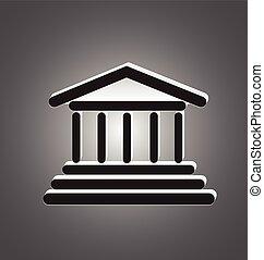 griechischer , tempel, spalten, logo